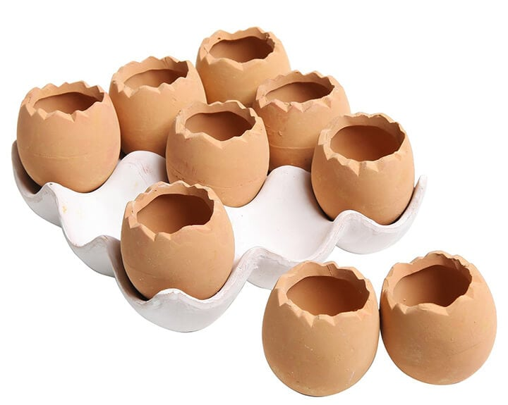 Ceramic Egg Planters