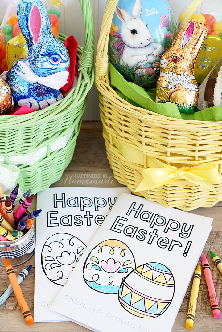 Cute Printable Easter Coloring and Activity Books