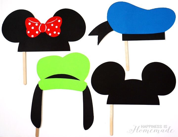Disney Photo Booth Props - Mickey Minnie Donald Goofy