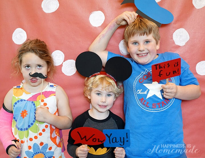 Disney Photo Booth Props