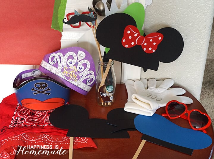 Disney Photo Props and More Party Fun