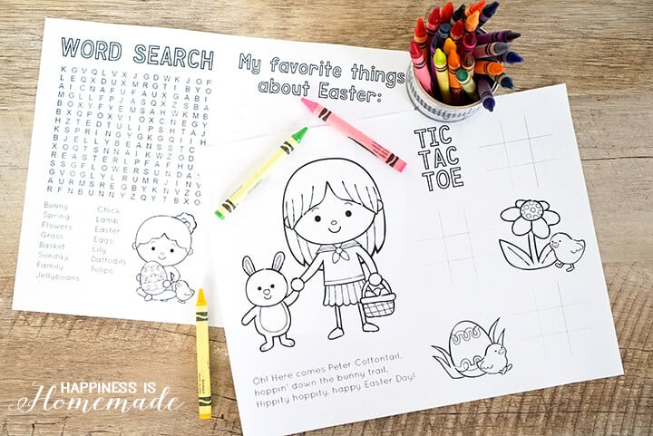 Easter Coloring And Activity Book Printable