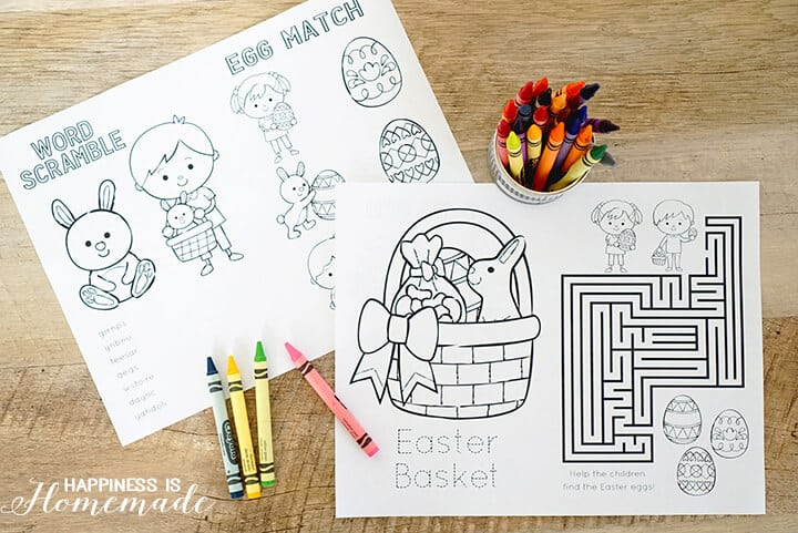 Easter Coloring Book Printable Word Search Mazes and More