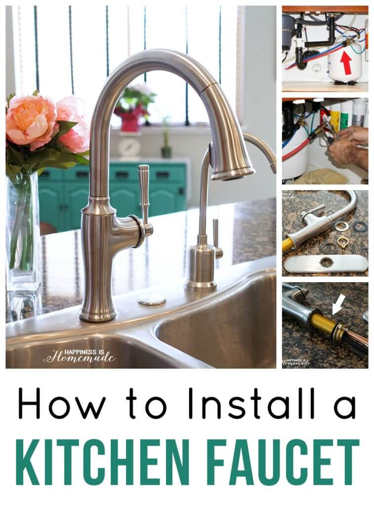 installing a kitchen faucet how to install a kitchen faucet happiness is homemade 9227