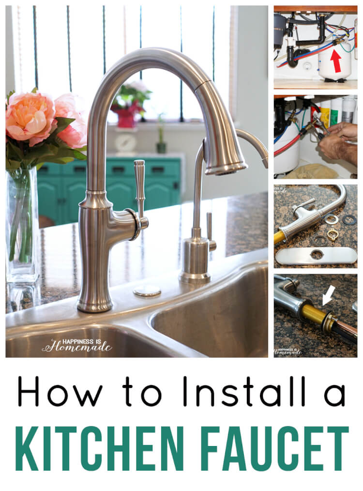how to install a kitchen faucet happiness is homemade how to install a single handle kitchen faucet at the home