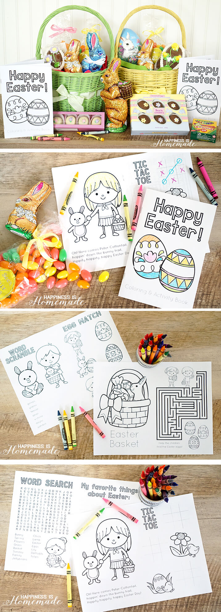 Free Printable Easter Coloring and Activity Book - great Easter basket stuffer