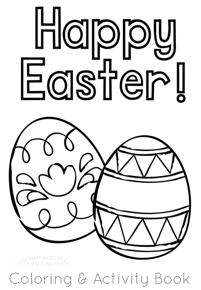 Printable Easter Coloring Book Happiness is Homemade
