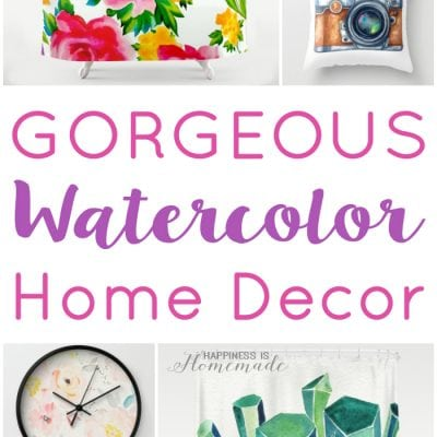 Gorgeous Watercolor Home Decor