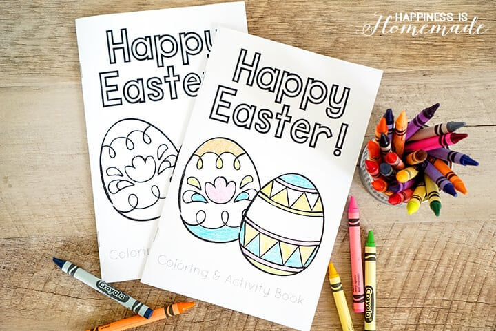 Happy Easter Printable Coloring and Activity Book
