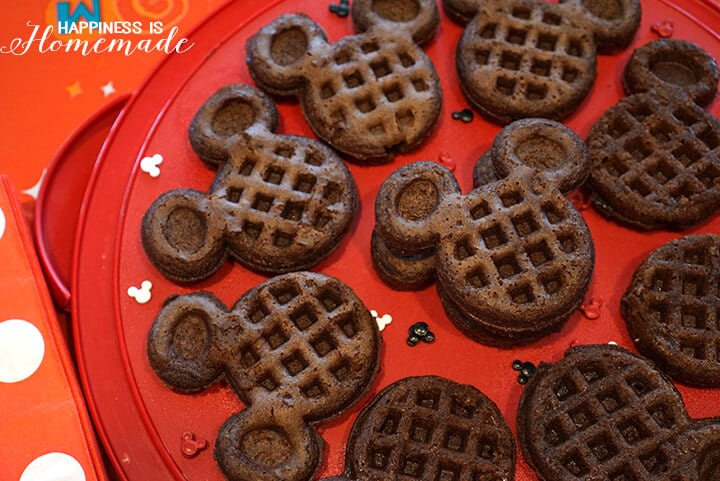 Mickey Mouse Brownie Waffles