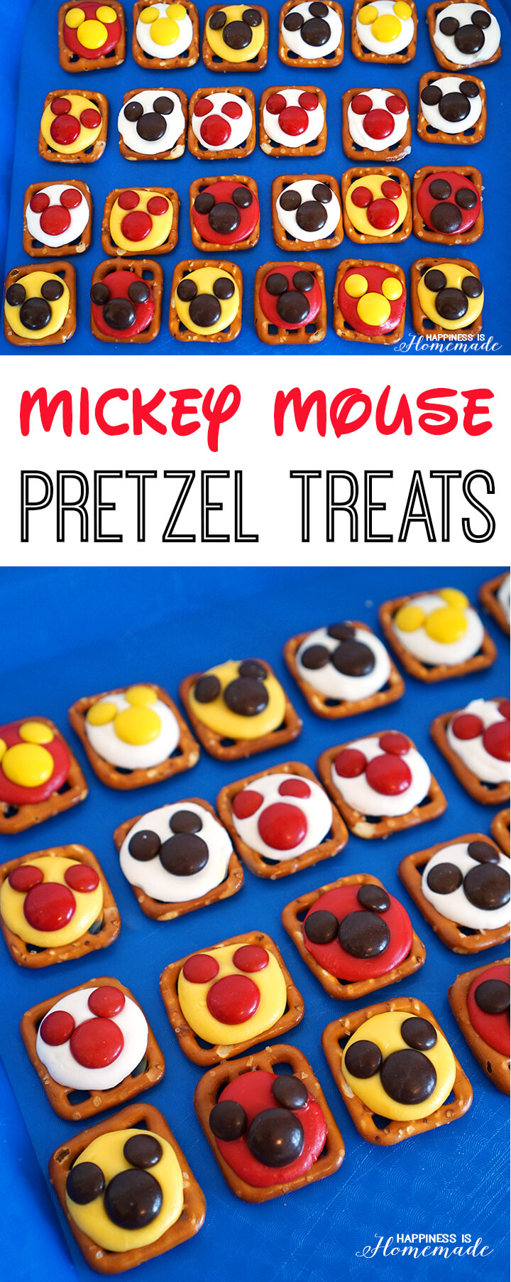 Mickey Mouse Pretzel Party Treats
