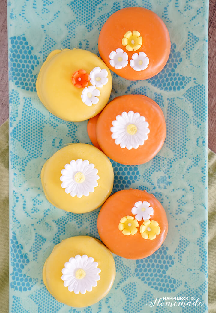 Spring Oreos with Flowers