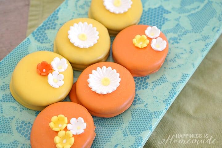 Springtime Oreo Flower Cookies