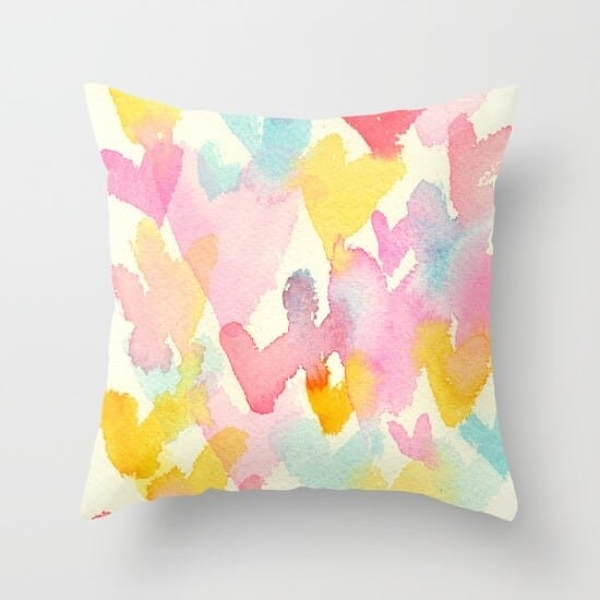 heart-watercolor-pillows