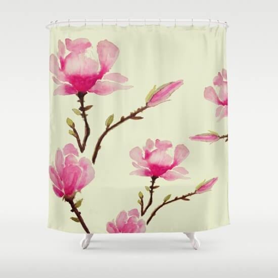 pink-magnolia-5p3-shower-curtains