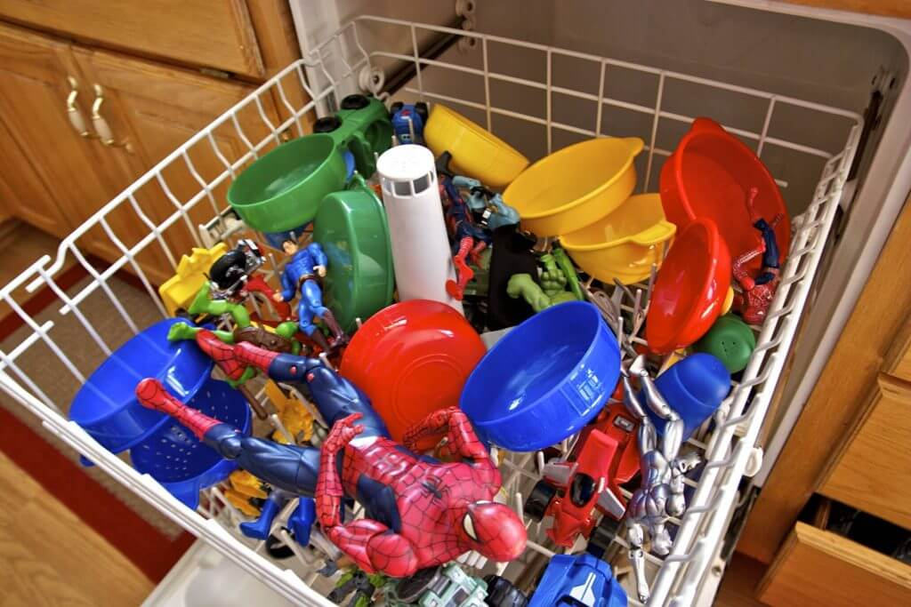 Image result for cleaning toys with a dishwasher images