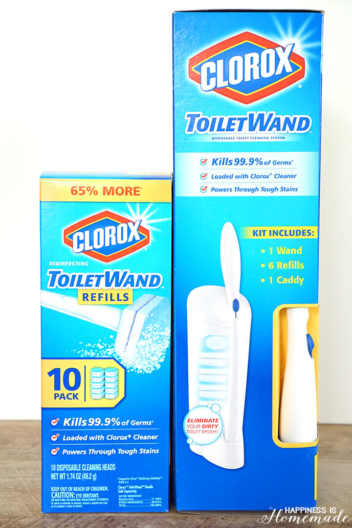 Clorox Toilet Cleaning Wand - a Great Bathroom Hack