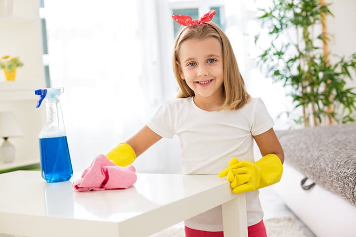 children cleaning - photo #1