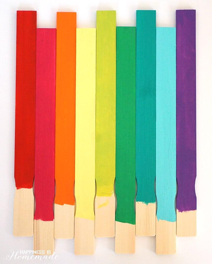 Rainbow Painted Paint Sticks