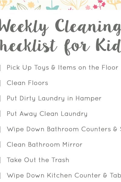 Spring Cleaning for Kids Square
