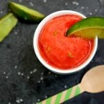 Strawberry Margarita Sorbet (Boozy or Not!)