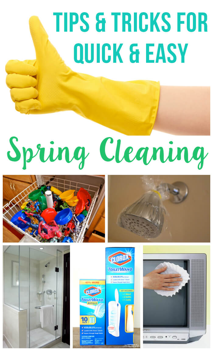 Spring Cleaning Tips clever spring cleaning tips & hacks - happiness is homemade