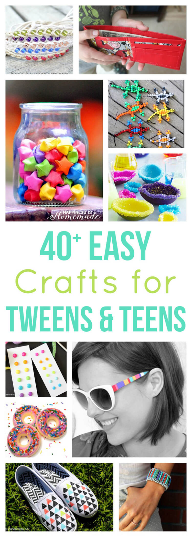 40 easy crafts for teens tweens happiness is homemade for Simply crafts