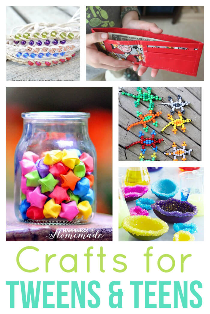 40 Easy Crafts for Teens & Tweens Happiness is Homemade