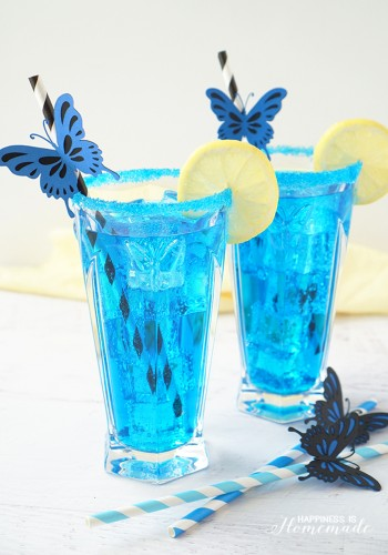 Electric Blue Butterfly Cocktail & Mocktail