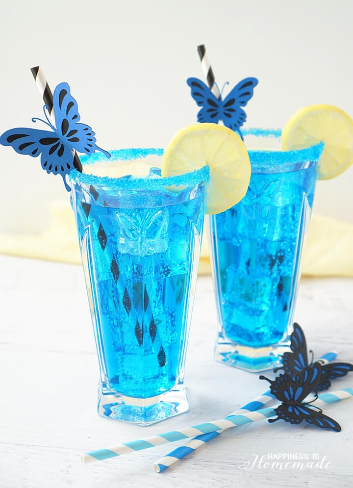 Alice's Electric Blue Butterfly Cocktail