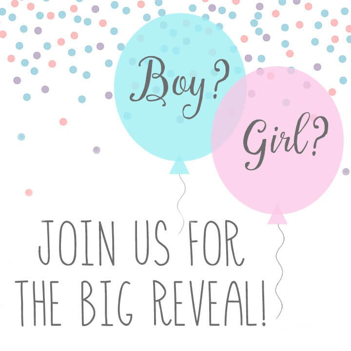 Baby Gender Reveal Party Invitations Happiness is Homemade – Baby Gender Reveal Party Invitations