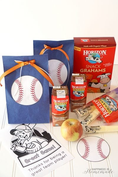 Baseball Team Snack Treat Idea with Free Printables 2