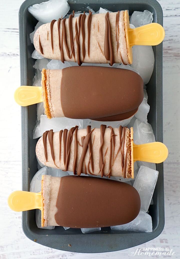 Caramel Chocolate Nutchello Popsicles