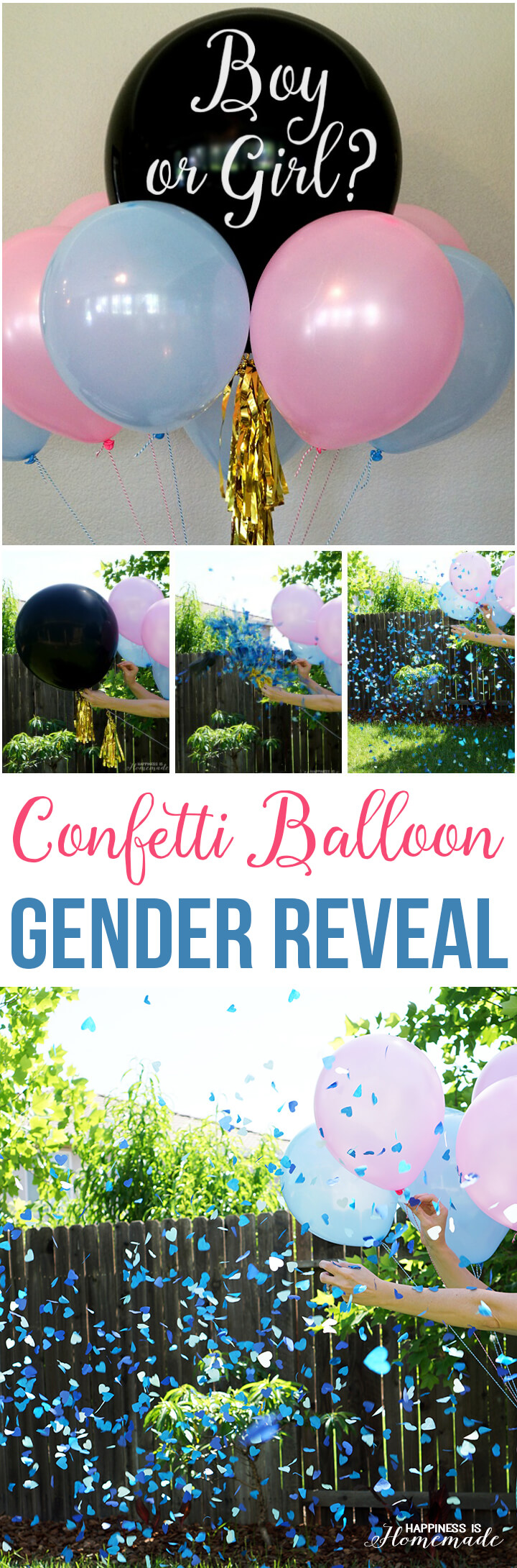 Baby Gender Reveal Party Ideas - Happiness is Homemade