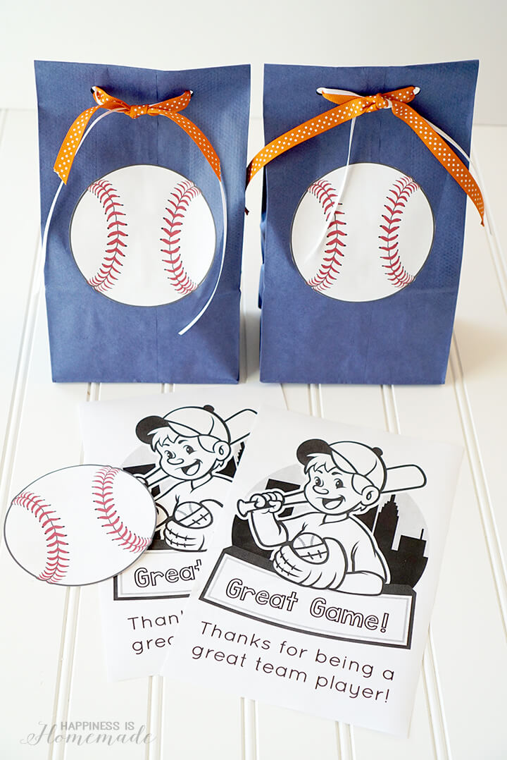 Cute Free Printables for Baseball Team Snack Idea