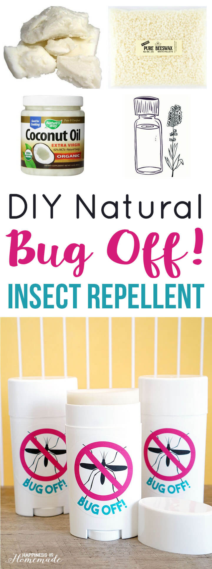 DIY Natural Bug Off Insect Repellent Sticks
