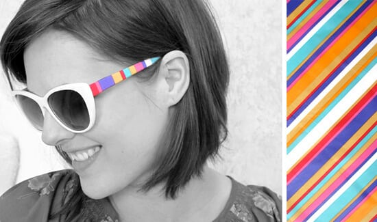 DIY Striped Shades