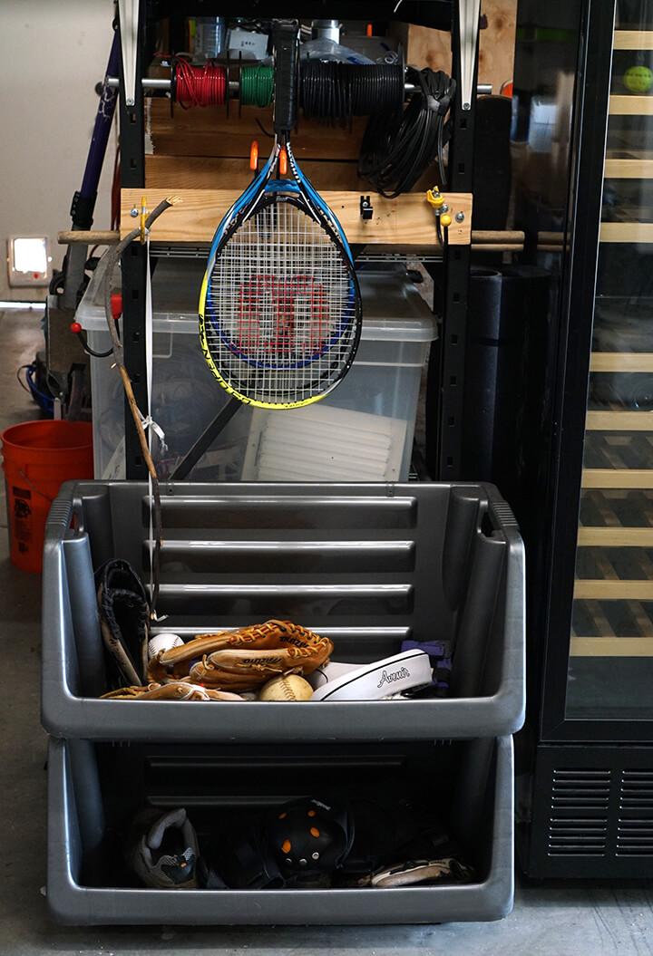 Garage Sports Equipment Before