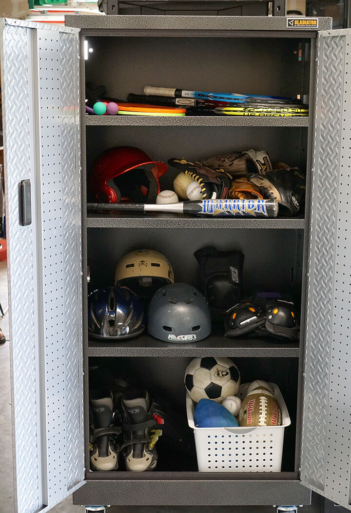 Gladiator Garage Cabinet Sports Organization