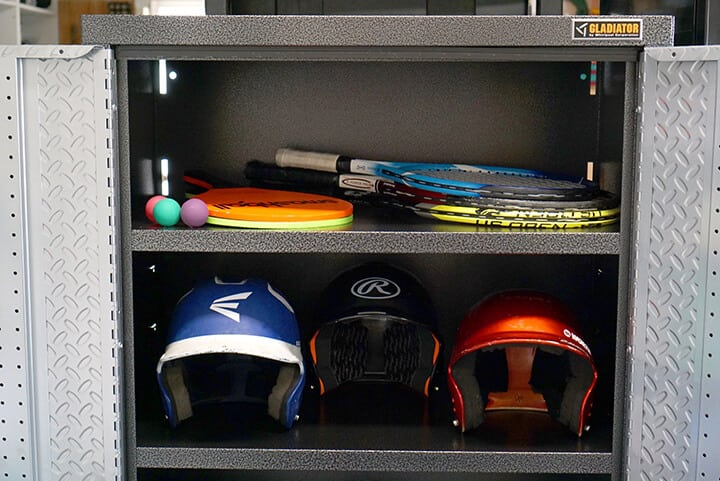 Gladiator Garage Cabinet Sports Organizer