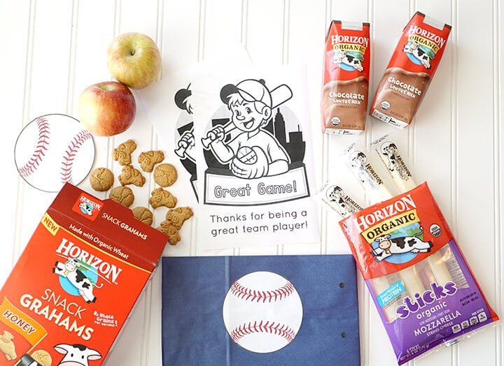 Horizon Organic Products for Healthy Baseball Snack Idea