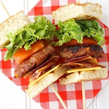 Cheddar Cheese & Bacon Burger Kabobs