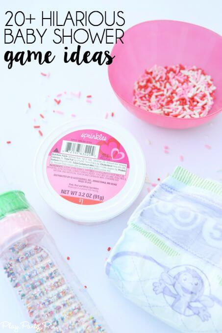 Baby Showers Activities And Games ~ Baby gender reveal party ideas happiness is homemade