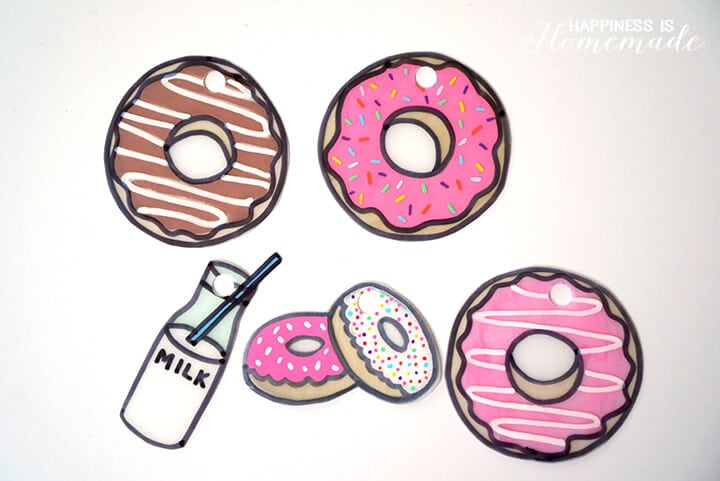 Donut Shrinky Dinks Before Shrinking