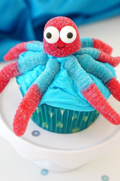 Super Cute & Easy Octopus Cupcakes