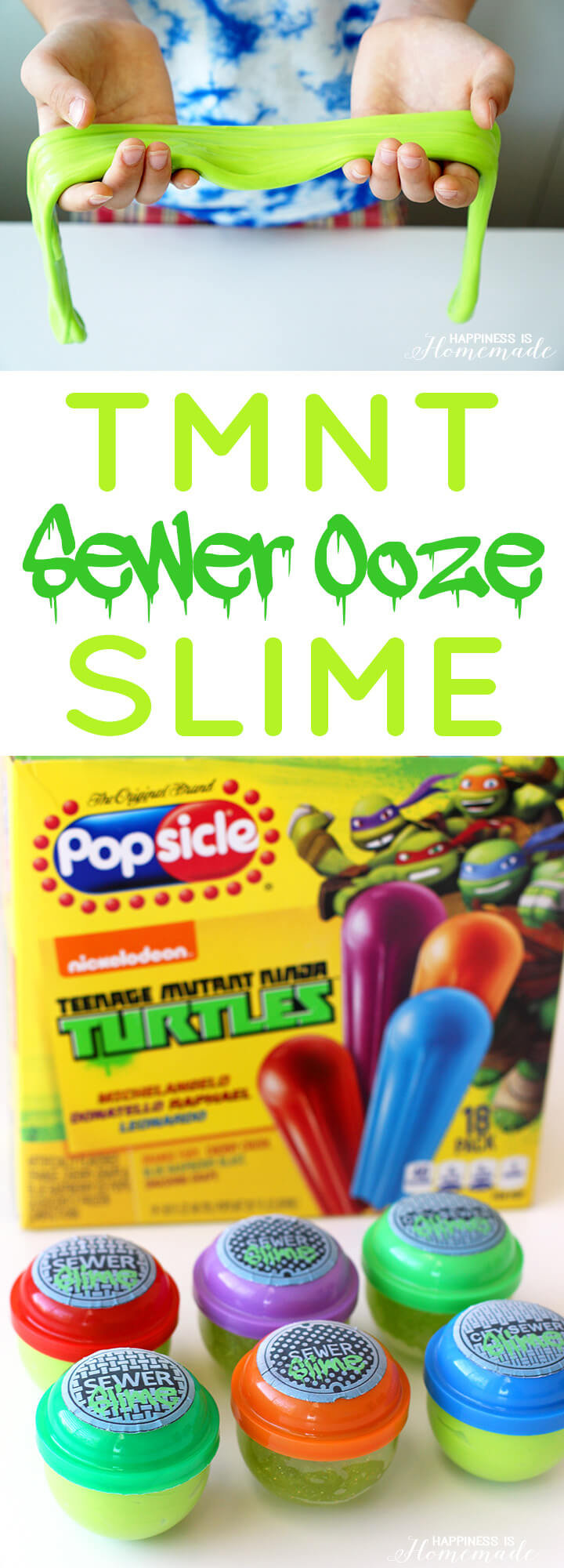 TMNT Sewer Ooze Slime Kids Craft - Teenage Mutant Ninja Turtles