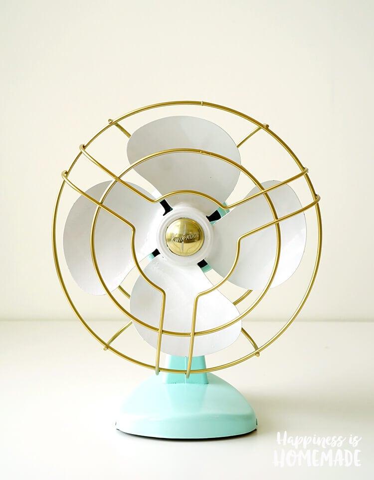 Updated Freshly Painted Vintage Kwik Kool Fan