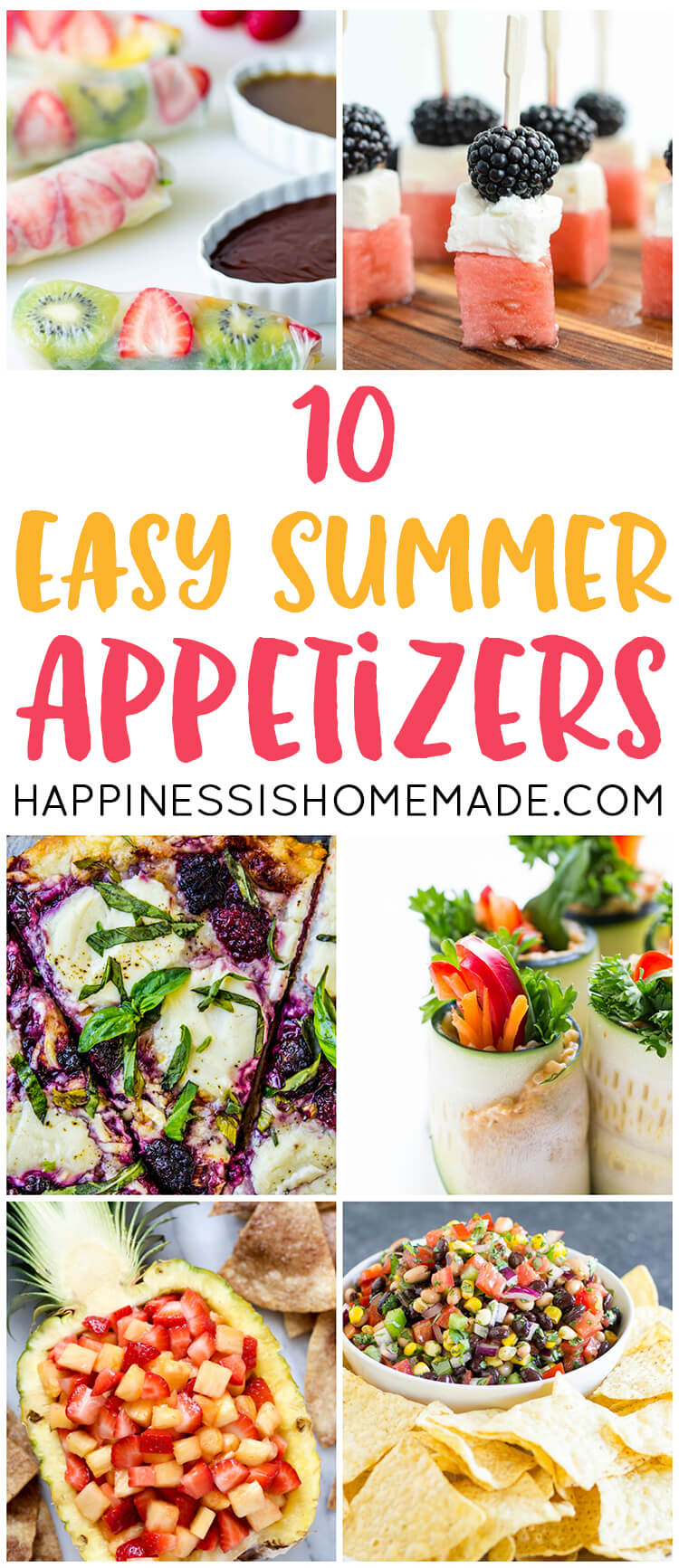 10 Easy Summer Appetizers for Parties