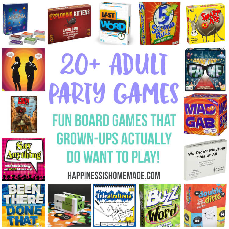 graphic regarding Free Printable Women's Party Games referred to as Enjoyment Social gathering Online games for Grownups: Board Game titles - Contentment is Selfmade