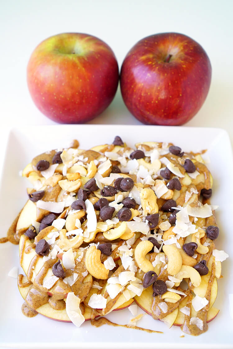 Apple Nachos After School Snack